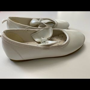 Carters pearl white flats